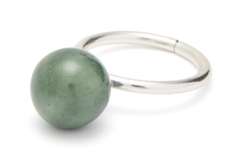 RING - PEARL - MOSS GREEN