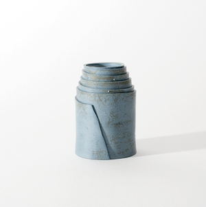 PORRE CANDLE HOLDER - Cyan grey
