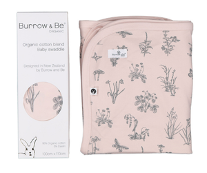 BURROW & BE Swaddle- MEADOW BLUSH
