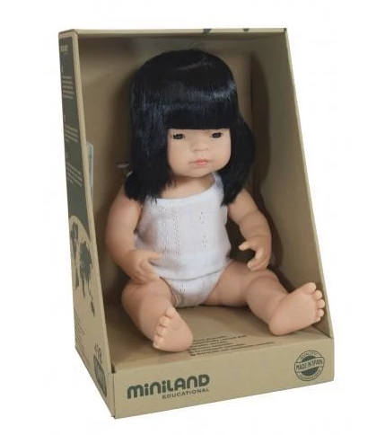 MINILAND Anatomically Correct Baby Girl Asian 38cm