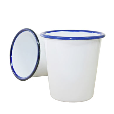 DISHY Enamel Tumbler Full White