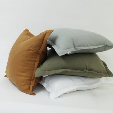 MOOD Linen Cushion 50x50 with Feather Inner