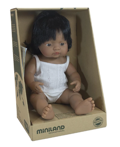 MINILAND Anatomically Correct Baby Girl Hispanic 38cm