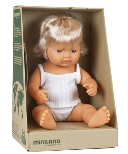 MINILAND Anatomically Correct Baby Girl Caucasian 38cm