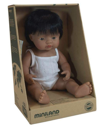 MINILAND Anatomically Correct Baby Boy Hispanic 38cm