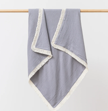 OVER THE DANDELIONS Muslin Blanket w/ Tassel