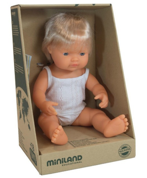 MINILAND Anatomically Correct Baby Boy Caucasian 38cm