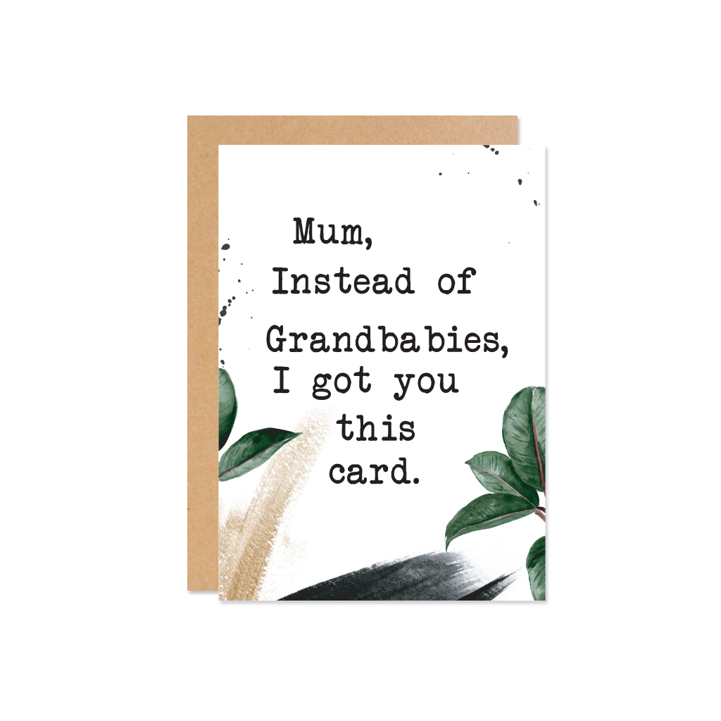 THE WILD ONES Mum Grandbabies Card