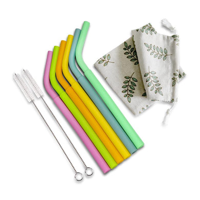 HAAKAA Silicone Straw Pack