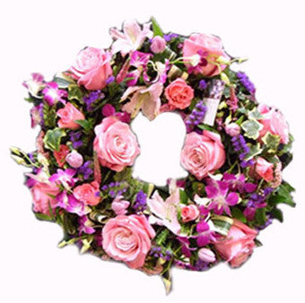 The Vintage Rose Wreath