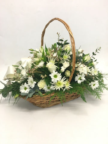 The classic cream and green basket