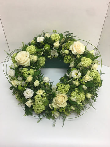 The Vintage cream rose wreath