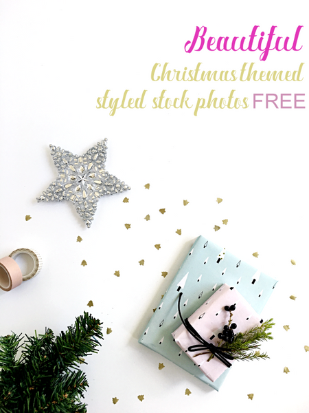 Beautiful Christmas themed styled stock photography free for commercial use. Created by Shah Bahpyu from https://lilspaces.com