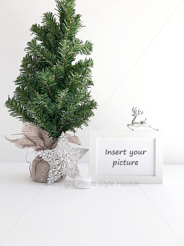 Beautiful Christmas themed styled mock-up free for commercial use. Created by Shah Bahpyu from https://lilspaces.com
