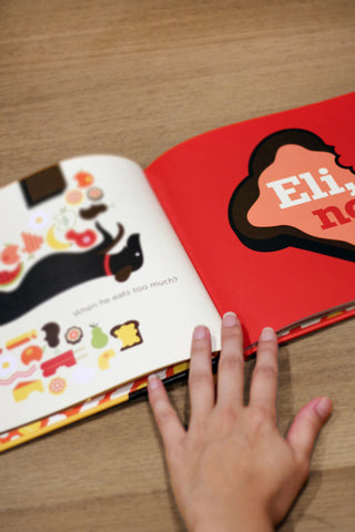 Childrens book Eli No spread