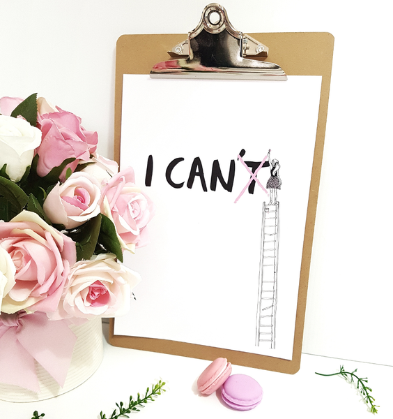 I can inspirational art print for girls - Printable PDF Download
