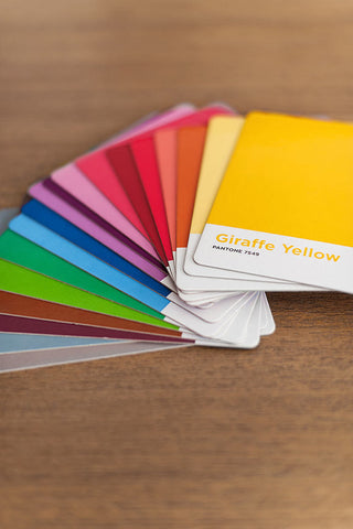 Kids Pantone colour cards