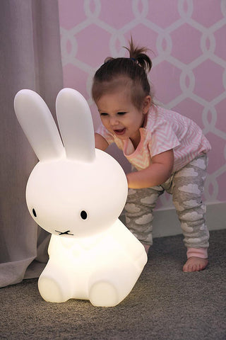 Girl Pushing Kids Miffy Lamp From Lilspaces.com