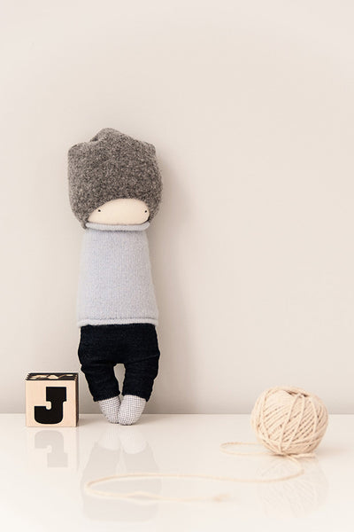 plush toy handmade, stylish fabric doll, cute boy doll
