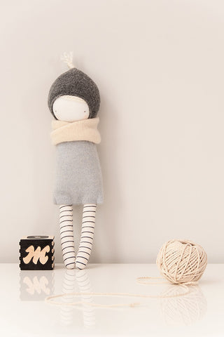 plush toy handmade, stylish fabric doll, cute girl doll