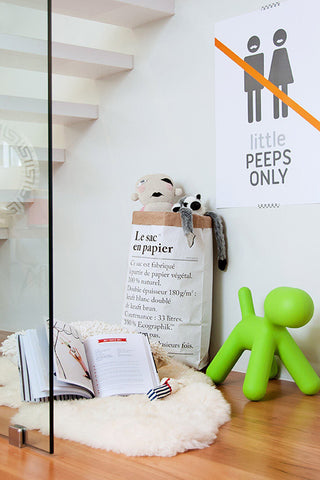 play corner, le sac en papier, the paper bag, stylish storage, available from https://lilspaces.com