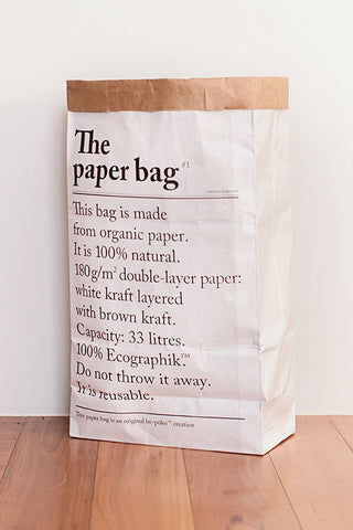 le sac en papier, the paper bag, stylish storage, stylish kids storage