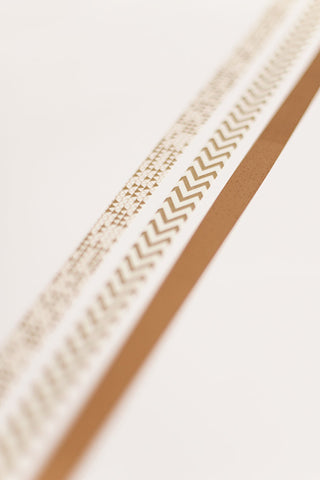 Washi tape gold triangles chevron, gold masking tape