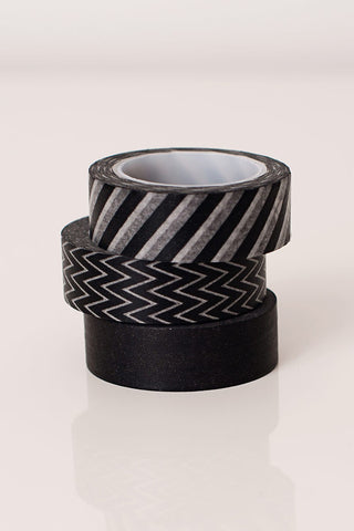 Washi tape black and white, black and white masking tape