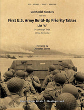 "Unit Serial Numbers from the ""First U.S. Army Build-Up Priority Tables, List A, D+1 Through D+14"""