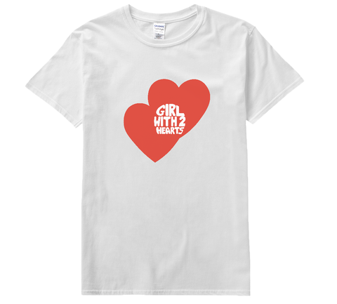 'Girl With Two Hearts' Tee