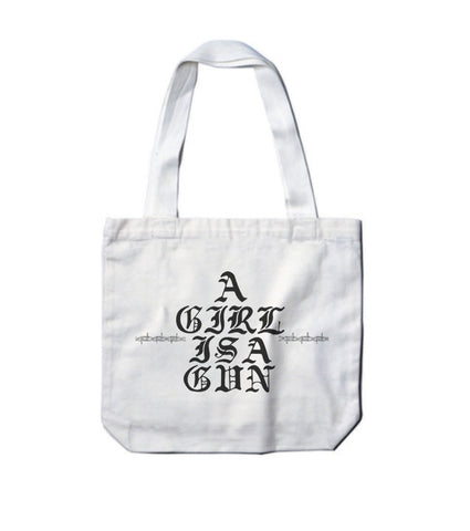 'A Girl is a Gun' Tote