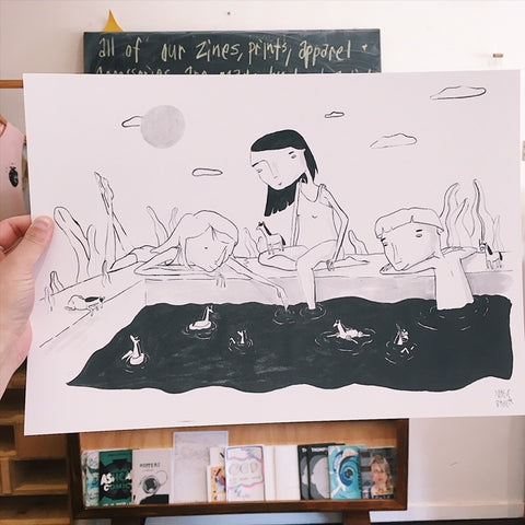 'Pool Party' Print