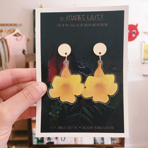 Golden Trumpet Earrings