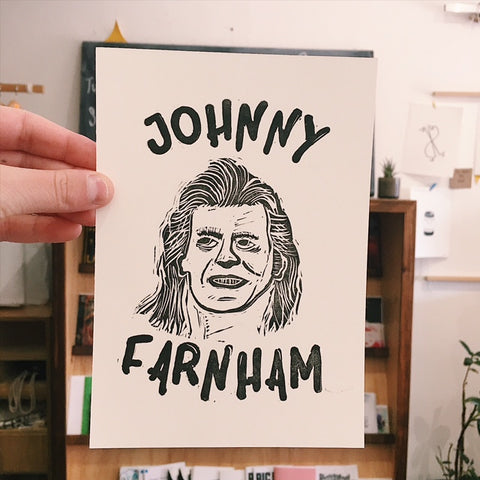 Johnny Farnham Gocco Print by Kristie Wilde