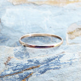 Thin Half Round Wedding Band in Solid 14k Rose Gold - Tiny Gold Ring