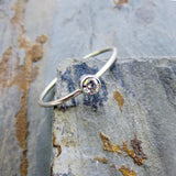 3mm Tiny Moissanite Ring in White Gold