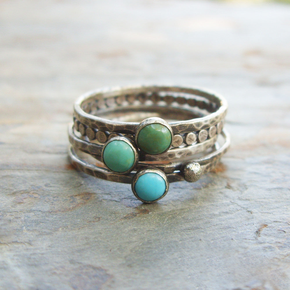 Turquoise Stacking Rings Set