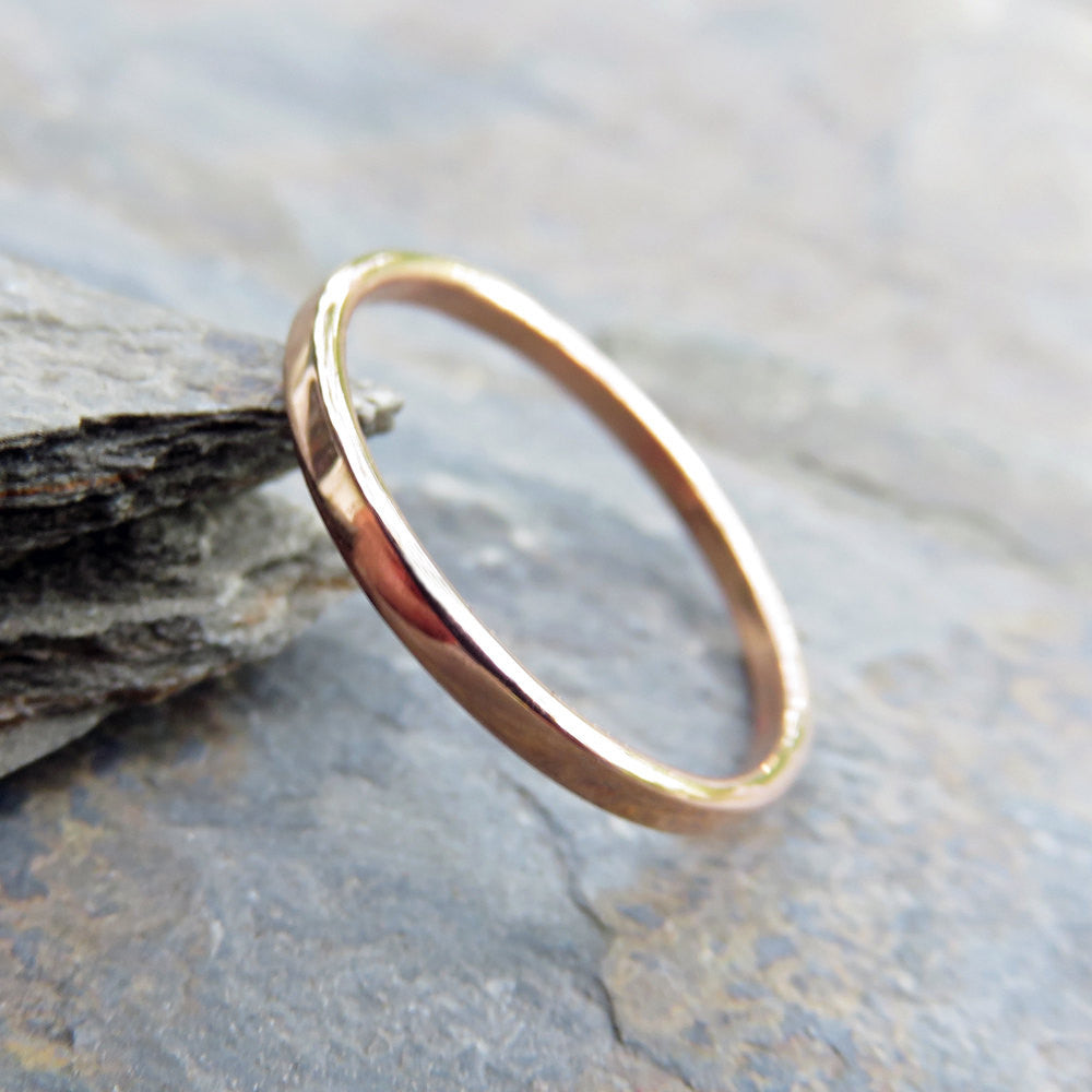 product rose ring band jewellery thin simple lightweight bands gold anna rei wedding dainty