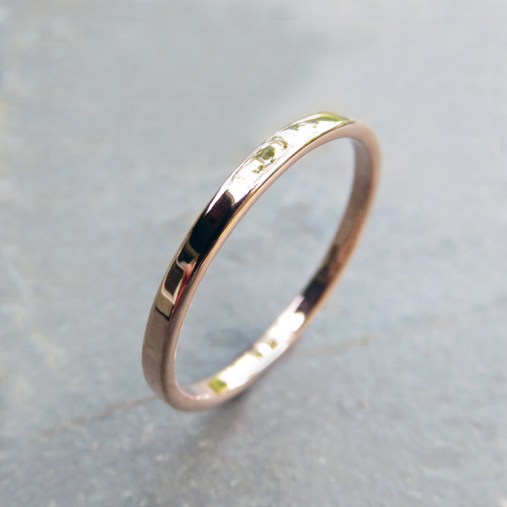 ring rings thin dots band gold womens wedding