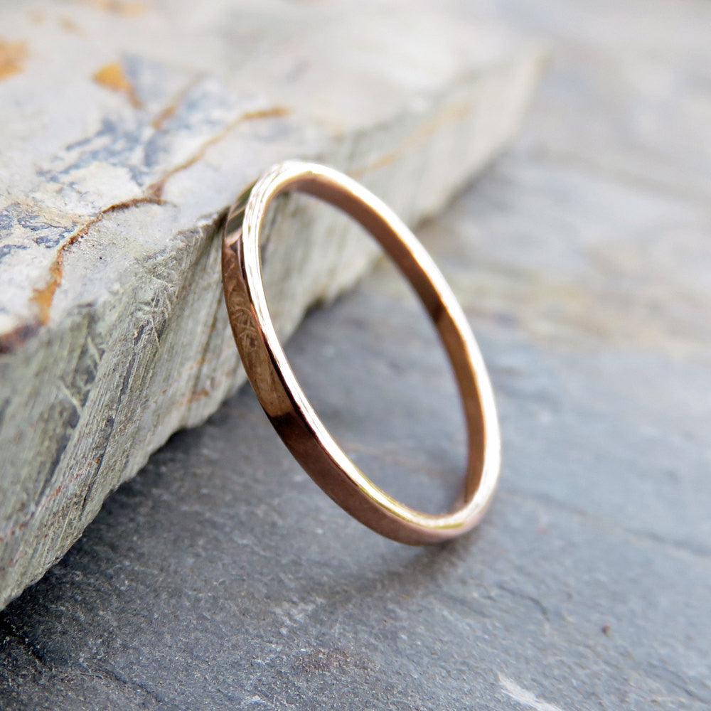 solid woman ring products wedding hammered thin gold simple womans bands s band