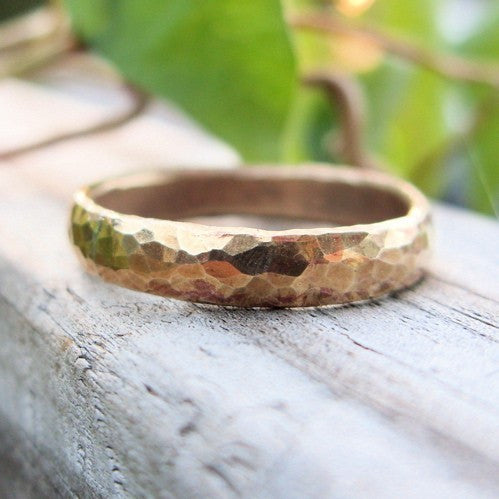 Artisan Hammered Brass Ring
