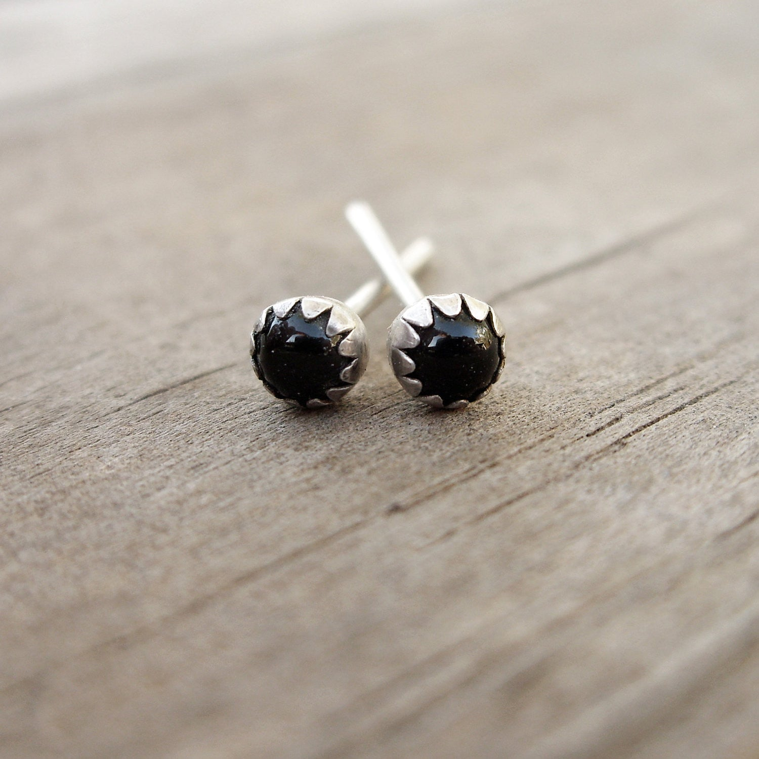 stone earrings natural studs minimalist lattner aria products