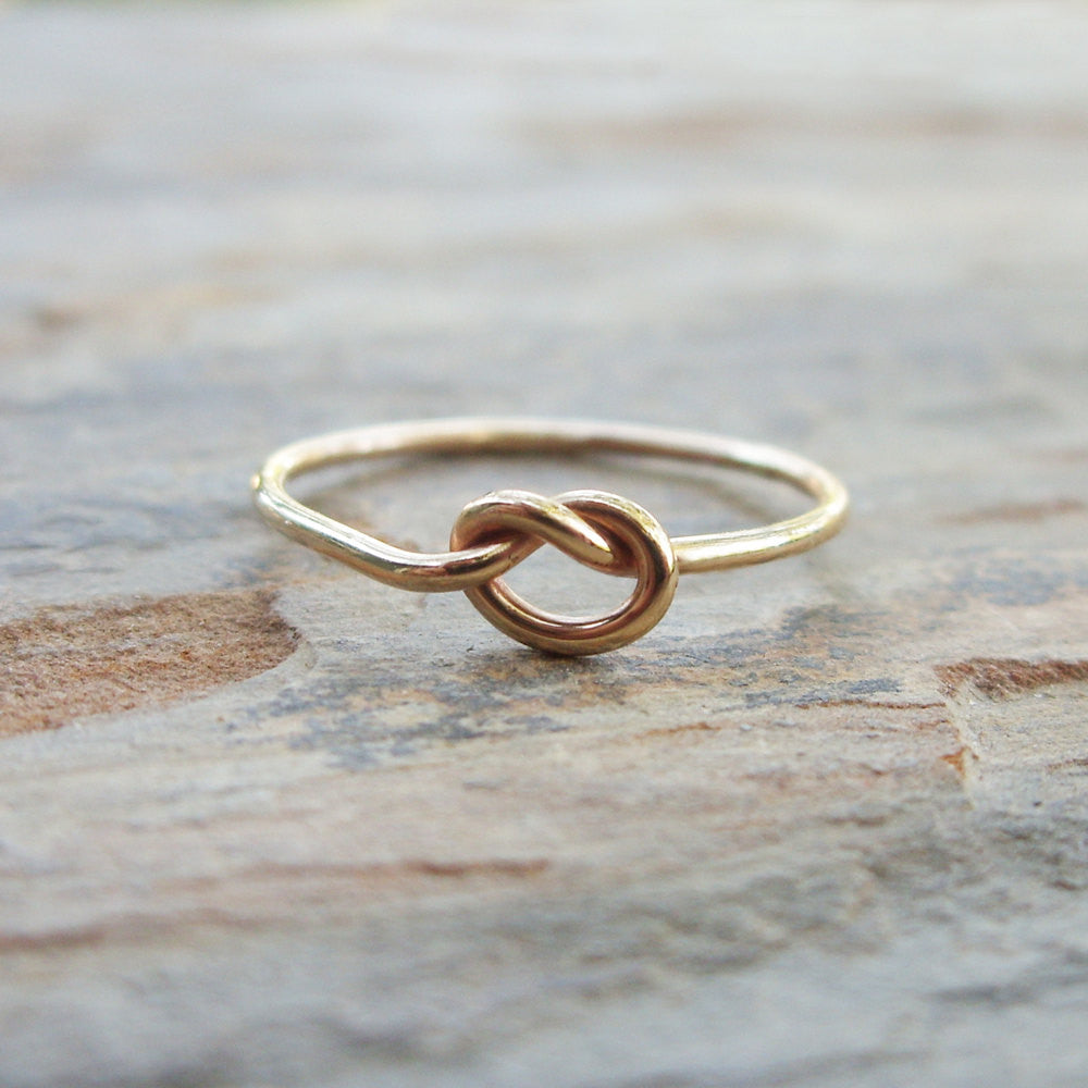 Solid 14k Gold Love Knot Promise Ring
