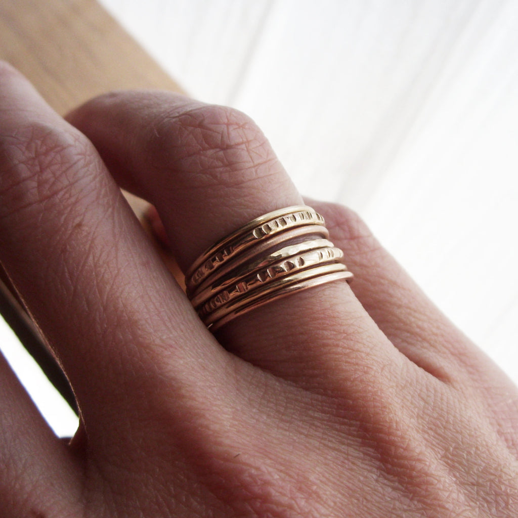 bands bling from swoon blushing pin stacking stone single rose gold bride