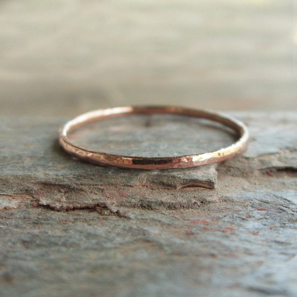 Tiny 14k Rose Gold Stacking Ring