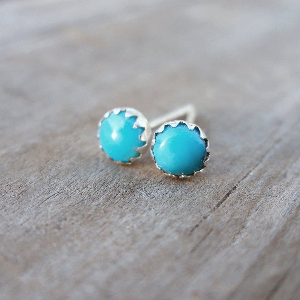 earrings silver real stud az yp bling turquoise sterling ball simulated turq jewelry
