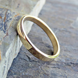 3mm Yellow Gold Wedding Ring, Polished or Matte