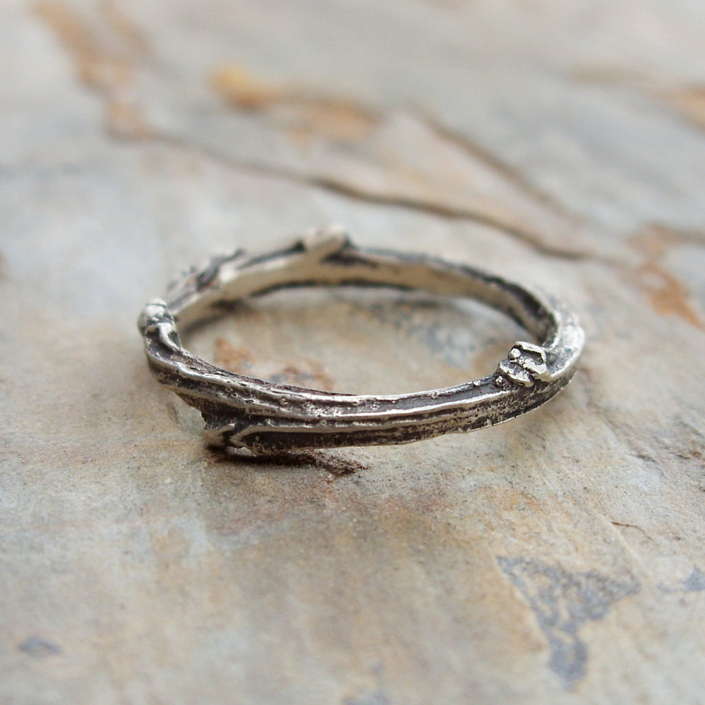 rings landscape oxidized engagement ring line design band products silver stacking wedding