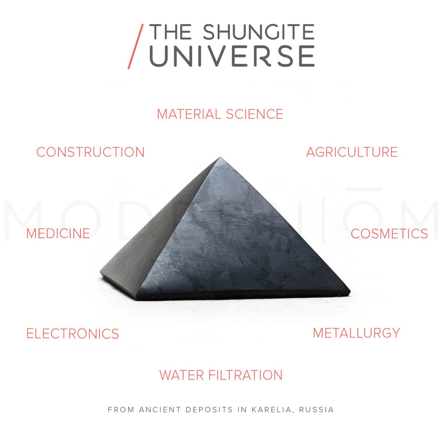 Shungite WISDOM & PROTECTION Pyramid Set