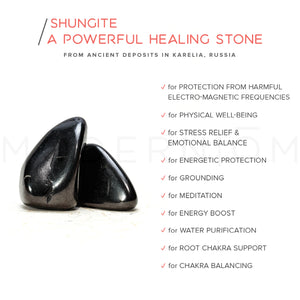 Shungite DE-STRESS & ENJOY Pyramid Set